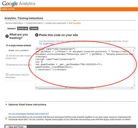 Google Analytics TrackingCode