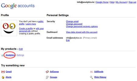Google Accounts Profile